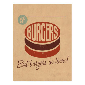 Retro Burger Post Cards