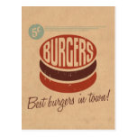 Retro Burger Postcard