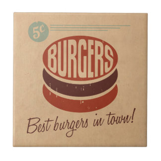Retro Burger Tile