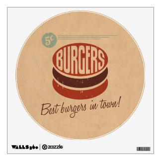 Retro Burger Wall Decal