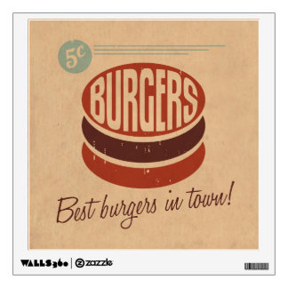 Retro Burger Wall Sticker