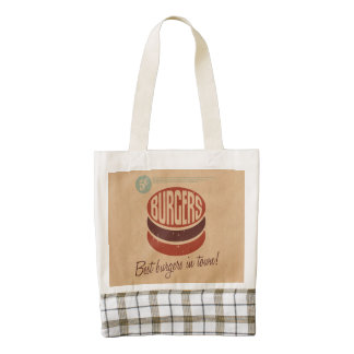 Retro Burger Zazzle HEART Tote Bag