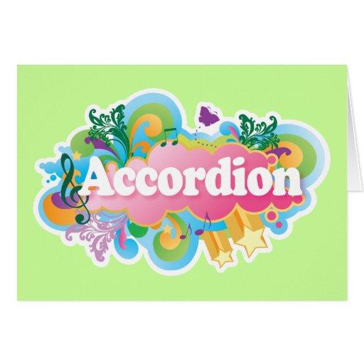 Retro Burst Accordion Music Gift Card