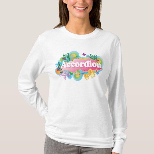 Retro Burst Accordion Music Gift T-Shirt