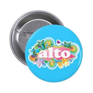 Retro Burst Alto Singer Choir Gift Button