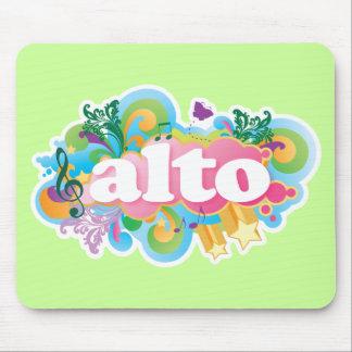 Retro Burst Alto Singer Choir Gift Mouse Pad