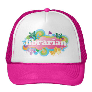 Retro Burst Colorful Librarian Gift Trucker Hat