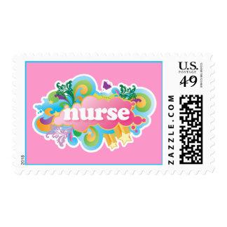 Retro Burst NURSE Gift Stamp