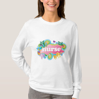 Retro Burst NURSE Gift T-Shirt