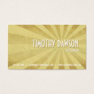 Retro Burst - Yellow Business Card