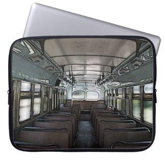 retro bus interior laptop sleeve fuji_electronicsbag