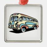retro bus motor coach christmas tree ornament