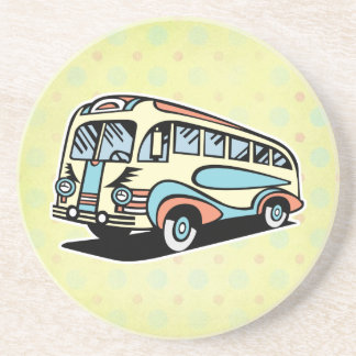 retro bus motor coach drink coaster