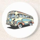 retro bus motor coach drink coasters
