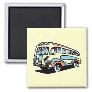retro bus motor coach fridge magnet