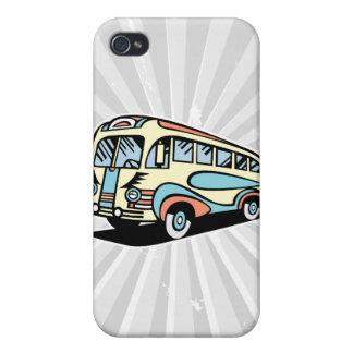 retro bus motor coach iPhone 4/4S covers