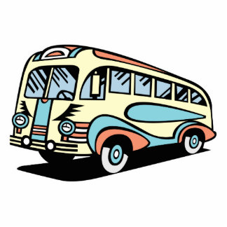retro bus motor coach cut outs