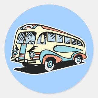 retro bus motor coach sticker