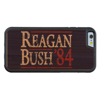 Retro Bush Reagan 84 Election Carved Cherry iPhone 6 Bumper Case