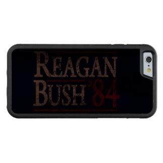 Retro Bush Reagan 84 Election Carved Walnut iPhone 6 Bumper Case