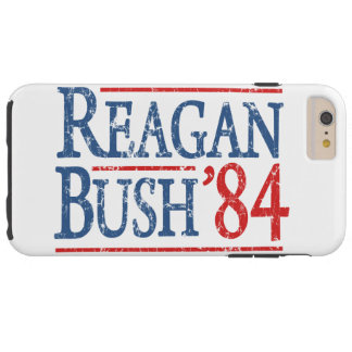 Retro Bush Reagan 84 Election Tough iPhone 6 Plus Case