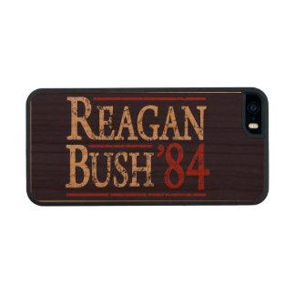 Retro Bush Reagan 84 Election Carved® Cherry iPhone 5 Slim Case