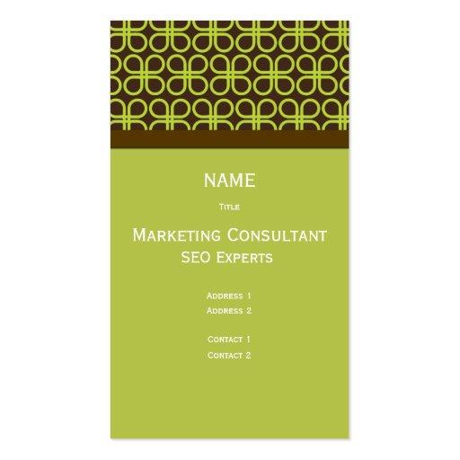 Retro Business Card Marketing Consultant