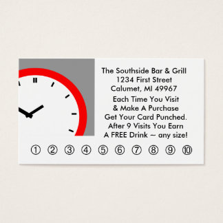 Retro Business Punch Cards Any business clock face