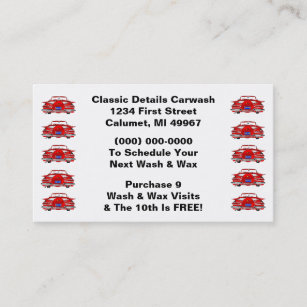 Classic car business cards templates zazzle retro business punch cards classic cars automotive reheart Images