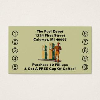 Retro Business Punch Cards Gas Pumps Service smile