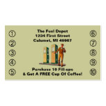 Retro Business Punch Cards Gas Pumps Service smile Business Cards