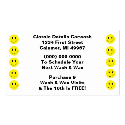 retro business punch cards happy face smiling dots double sided standard business cards pack of. Black Bedroom Furniture Sets. Home Design Ideas