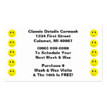 Retro Business Punch Cards Happy Face Smiling Dots Business Card Templates