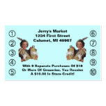 Retro Business Punch Cards Happy Grocery Shopper Business Card Template