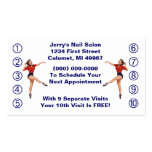 Retro Business Punch Cards Ladies Happy Lady Business Card Template