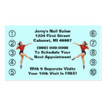 Retro Business Punch Cards Ladies Happy Lady Business Cards