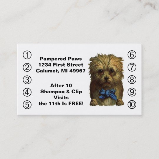 Retro business punch cards pet puppy dog grooming zazzle retro business punch cards pet puppy dog grooming colourmoves