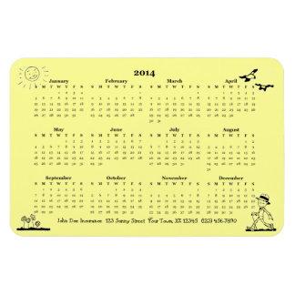 Retro Businessman 2014 Calendar Rectangle Magnets