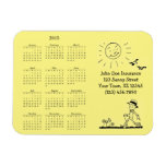 Retro Businessman 2015 Calendar Rectangle Magnet