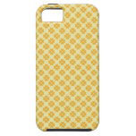 Retro buttercup yellow clover floral heart pattern iPhone 5 case