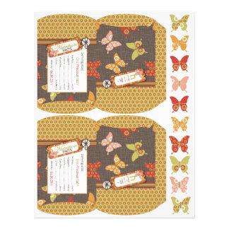 Retro Butterflies Mini Puff Box Flyer