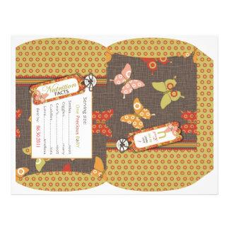 Retro Butterflies Puff Box Flyer