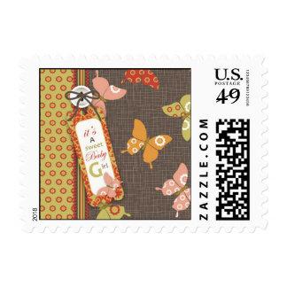 Retro Butterflies Stamp B