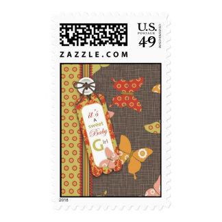 Retro Butterflies Stamp