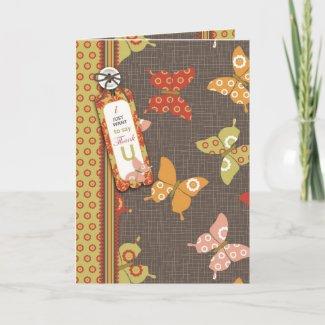 Retro Butterflies TY Card card