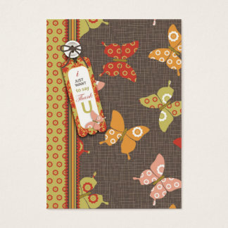 Retro Butterflies TY Gift Tag