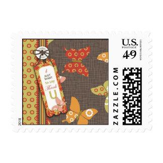Retro Butterflies TY Stamp B