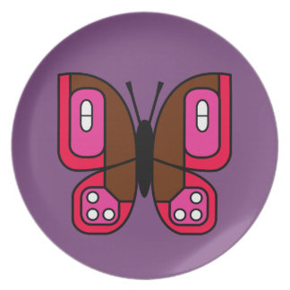 retro butterfly 01 plate