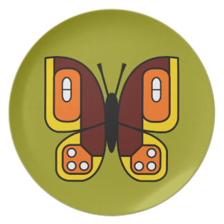 retro butterfly 02 plate