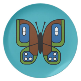 retro butterfly 03 plate